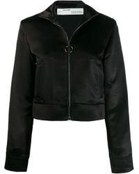 Off-White c/o Virgil Abloh Contrast Stripe Zip-front Jacket - Black
