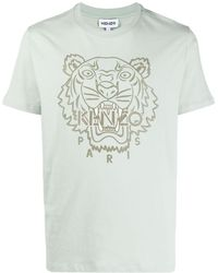 KENZO Tiger-embroidered T-shirt - Green