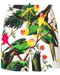 DSquared² - Tropical Print Swimming Trunks - Lyst