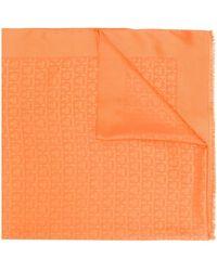 Ferragamo Gancini Print Scarf - Orange