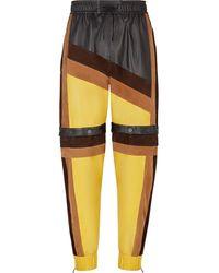 Fendi Colour Block Track Pants - Yellow