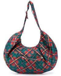 Chopova Lowena Tartan-print Shoulder Bag - Red