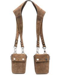 Amiri Suede Harness Bag - Brown
