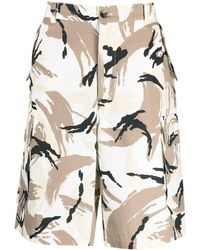 KENZO Camouflage Print Bermuda Shorts - Natural