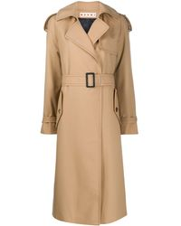 Marni Belted Trench Coat - Brown