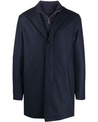Canali Layered Rain Coat - Blue