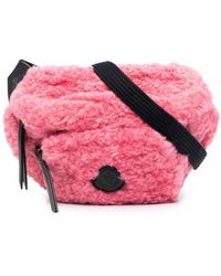 Moncler Logo-patch Belt Bag - Pink