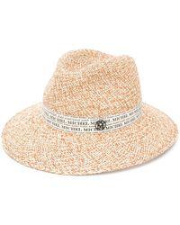 Maison Michel Henrietta Panama Fedora Hat - Natural
