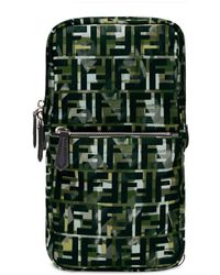 Fendi Camouflage Ff Print One-shoulder Backpack - Green