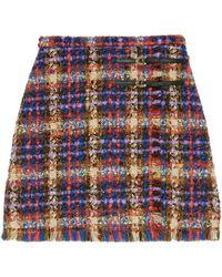 Gucci Tweed Mini Skirt - Blue