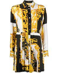 Versace Baroque-print Shirt Dress - White