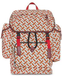 Burberry Printed Backpack - Red