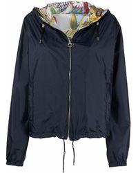 Ferragamo Drawstring-hem Hooded Jacket - Blue
