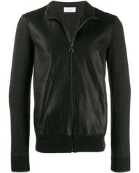 Ferragamo Contrast Sleeve Jacket - Black