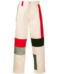 Diesel Red Tag Color Block Pants - Multicolor