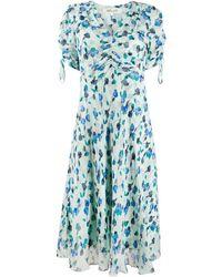 Diane von Furstenberg Eleonora Floral-print Silk Dress - Blue