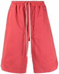 Rick Owens Drawstring-fastening Track Shorts - Red