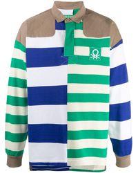 Benetton Striped Polo Shirt - White