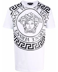 Versace - Medusa-print Cotton T-shirt - Lyst