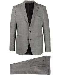 Tagliatore Single-breasted Two-piece Wool Suit - Grey