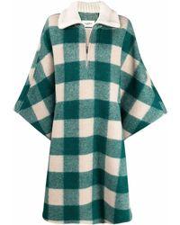 Étoile Isabel Marant Check Cape Coat - Green