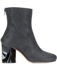 Maison Margiela Crushed Heel Ankle Boots - Black