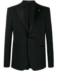 Tagliatore Satin-trimmed Jacket - Black