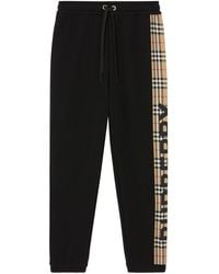 Burberry - Vintage Check Panel Track Pants - Lyst