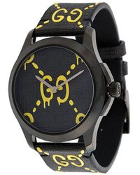 Gucci Women's GG Rubber Strap Watch, 38mm - Black