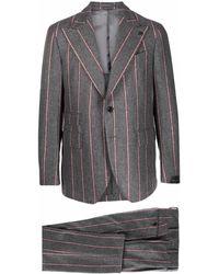 Gabriele Pasini Two-piece Stripe Suit - Grey