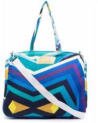 Formy Studio Stripe-print luggage Bag - Blue