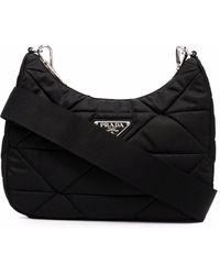 Prada Re-nylon Quilted Crossbody Bag - Black