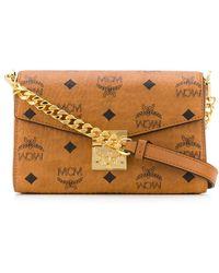 MCM Medium Millie Visetos-print Crossbody Bag - Brown