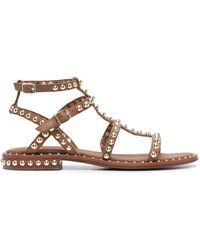 Ash Precious Studded Sandals - Brown