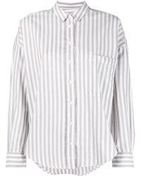 Closed Striped Organic Cotton Shirt - White