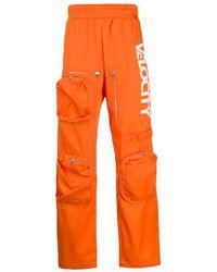 CALVIN KLEIN JEANS EST. 1978 Oversized-pocket Track Trousers - Orange