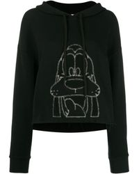 Monse Embroidered Goofy Hoodie - Black