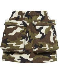 Miu Miu Camouflage Print Mini-skirt - Green