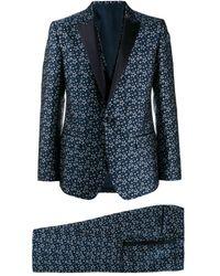 Dolce & Gabbana Star Jacquard Suit - Blue