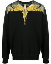 Marcelo Burlon Yellow Wings Long-sleeved T-shirt - Black