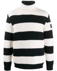Paul & Shark Cable Knit Sweater - Black