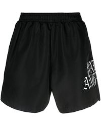 Palm Angels Logo-print Shorts - Black