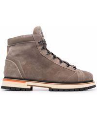 Santoni Lace-up Ankle Boots - Brown
