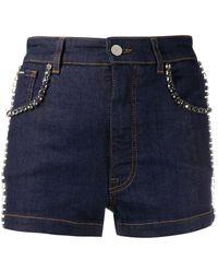 Dolce & Gabbana - Embellished Denim Shorts - Lyst