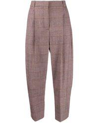 Stella McCartney Plaid Tapered Trousers