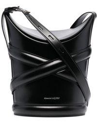 Alexander McQueen - Embossed-logo Bucket Bag - Lyst