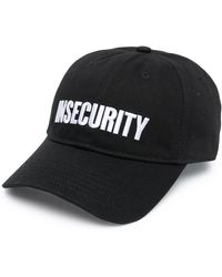 Vetements Insecurity-embroidered Baseball Cap - Black