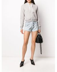 Unravel Project Lace Front Hoodie - Grey