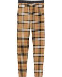 Burberry Vintage Check leggings - Brown