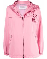 Valentino - Rose Blossom Hooded Jacket - Lyst